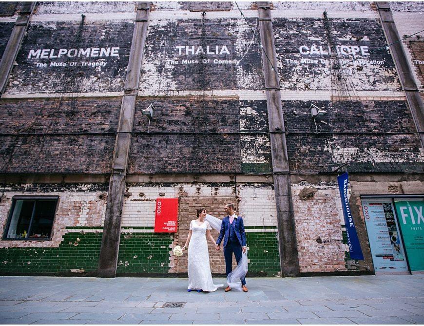 London Wedding Photographer – David & Cathy's wedding at Oxo2