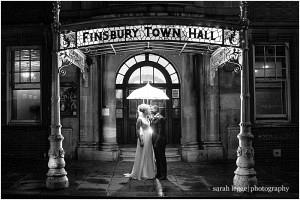 Old finsbury town hall cinematic wedding photograph