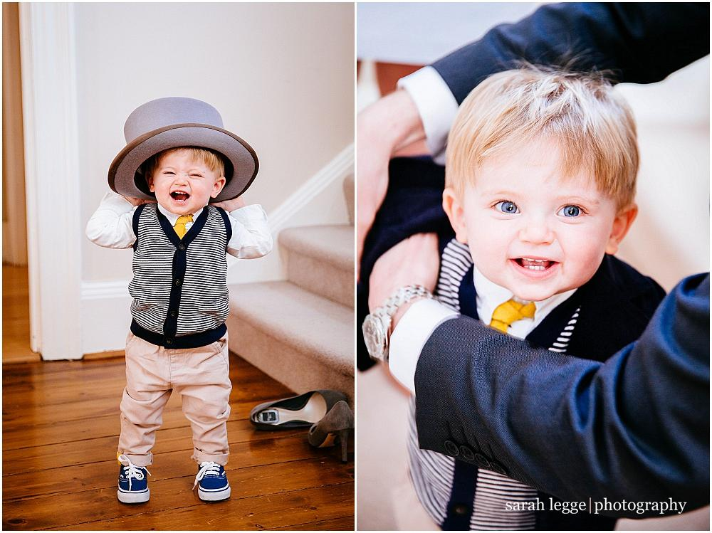 Small boy in top hat