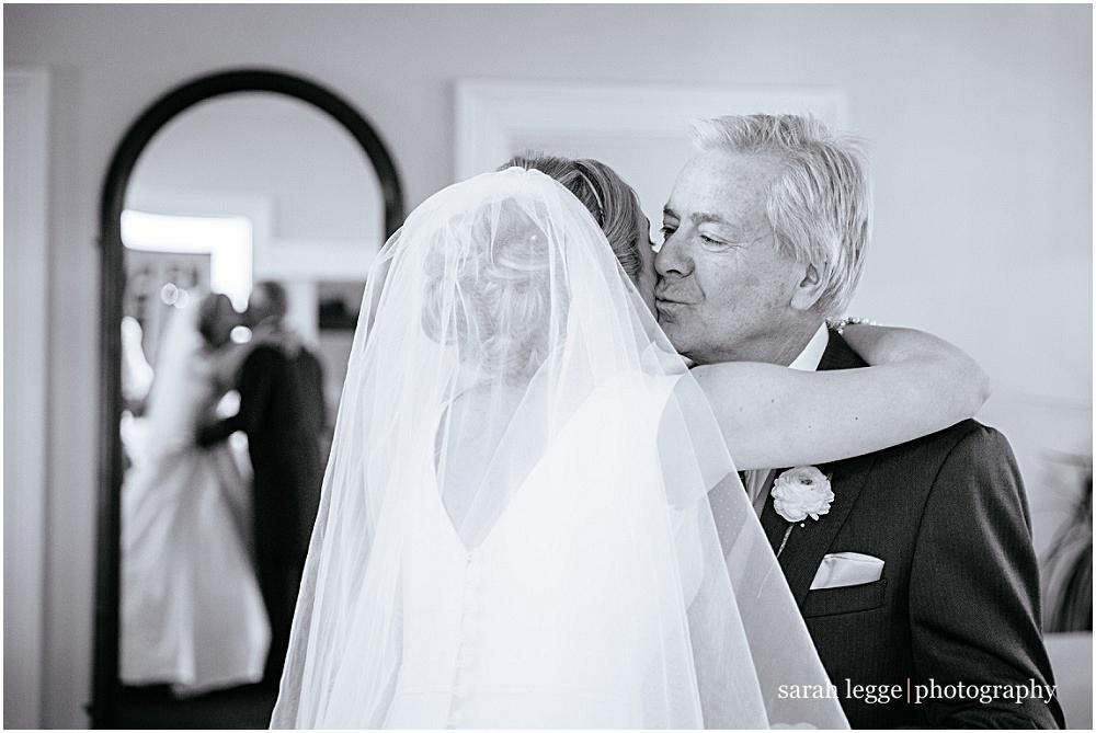 Father seeing daughter for first time on her wedding day
