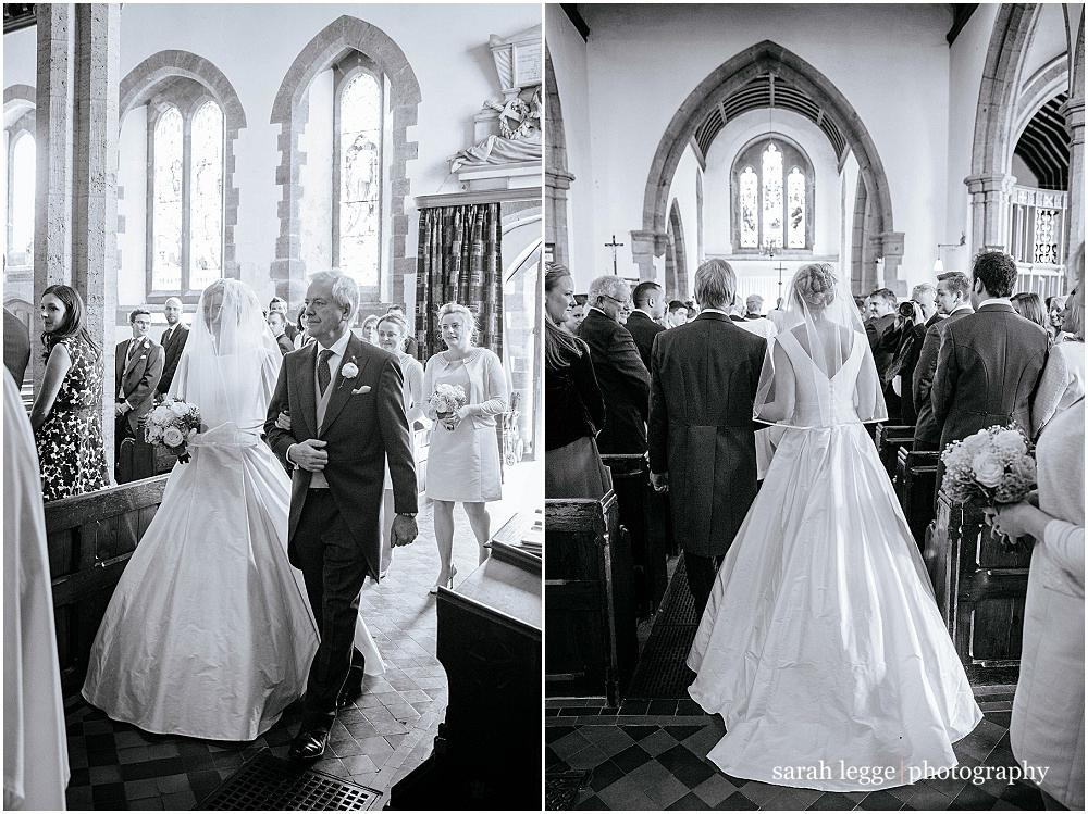 Walking down aisle with father