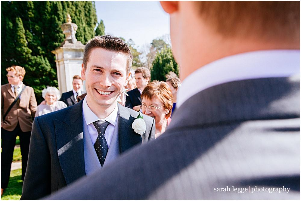 Groom smiling again