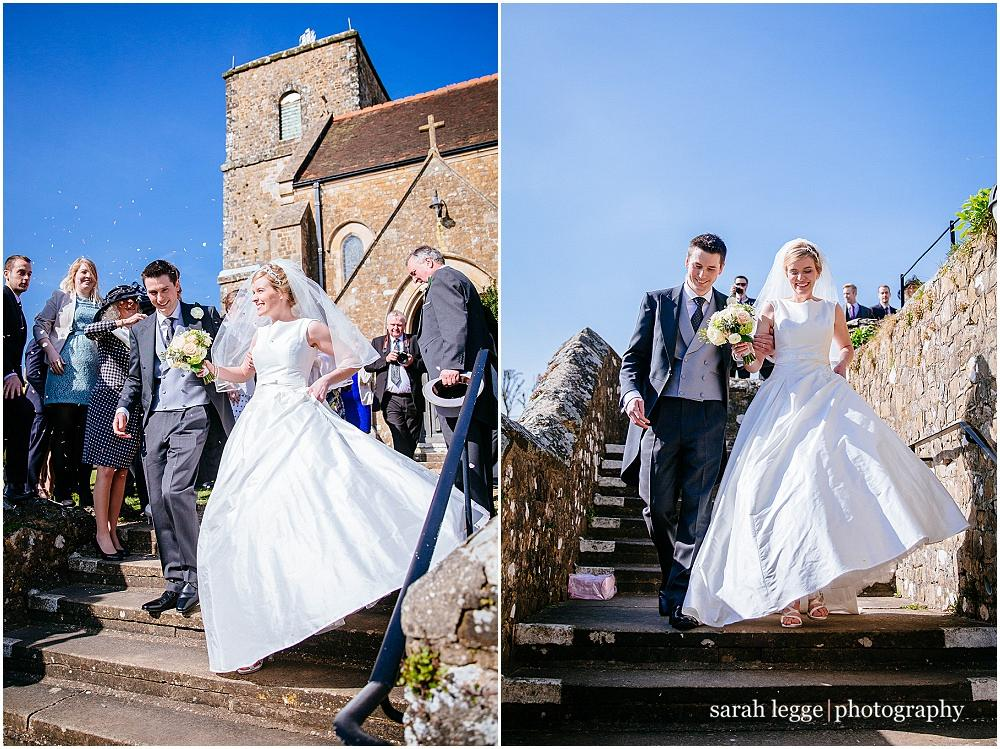 Sunny English country wedding