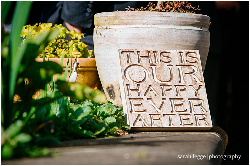 This is our happy ever after sign