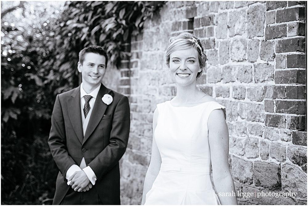 Bride and groom at Sussex wedding