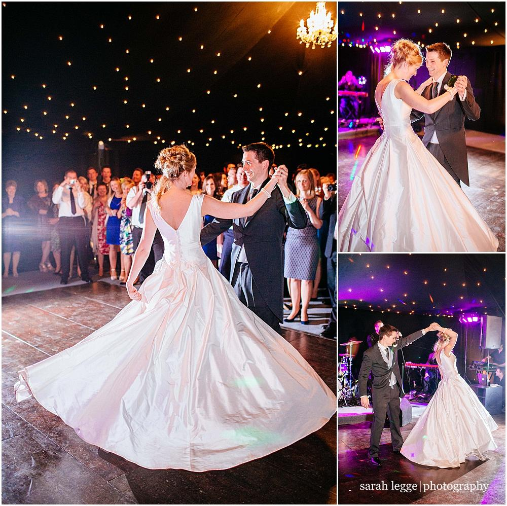 First dance with swishy dress