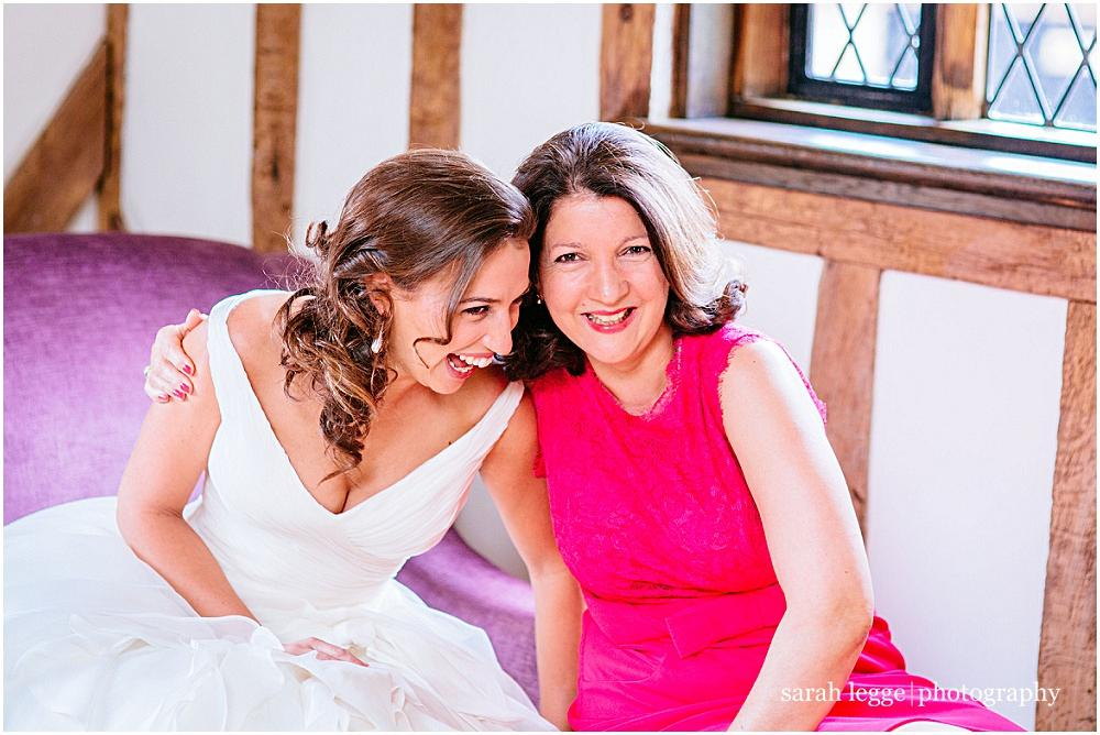 Bride and beautiful mother