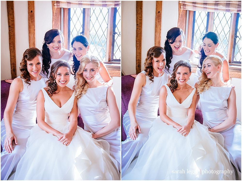 Glam bride and bridesmaid