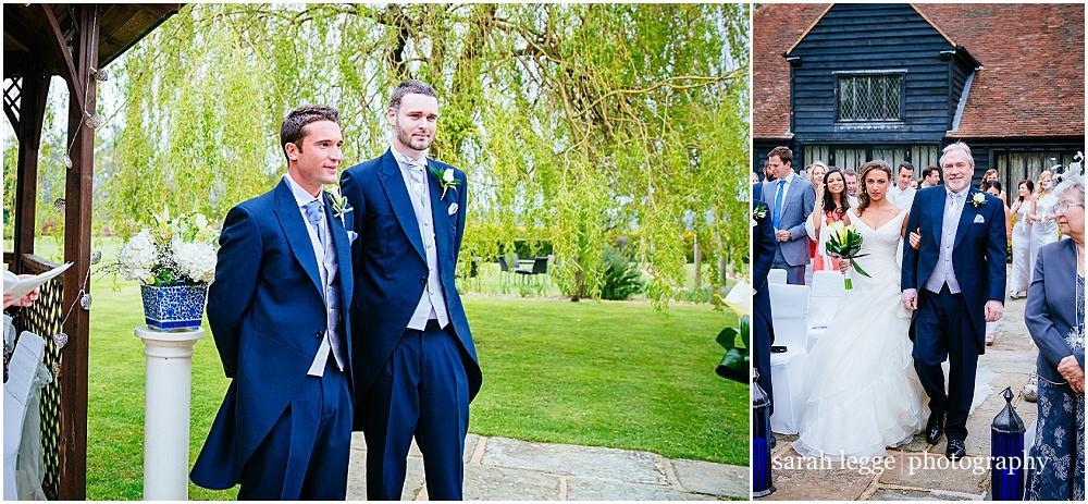 Groom first sees bride