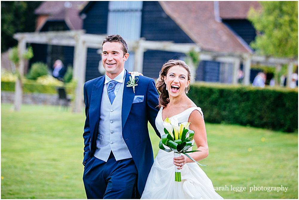 Beautiful bride and groom in Cain Manor grounds