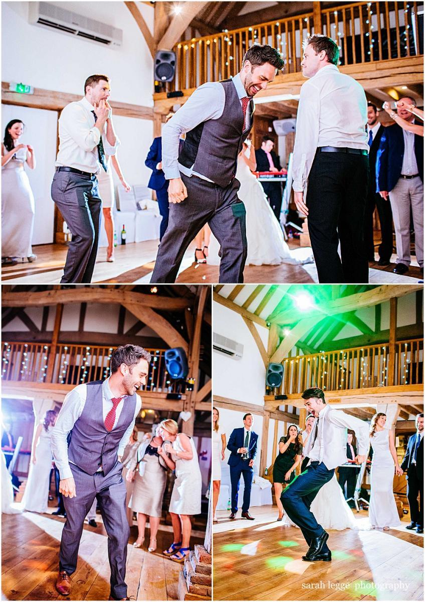 Guests dancing at Cain manor wedding