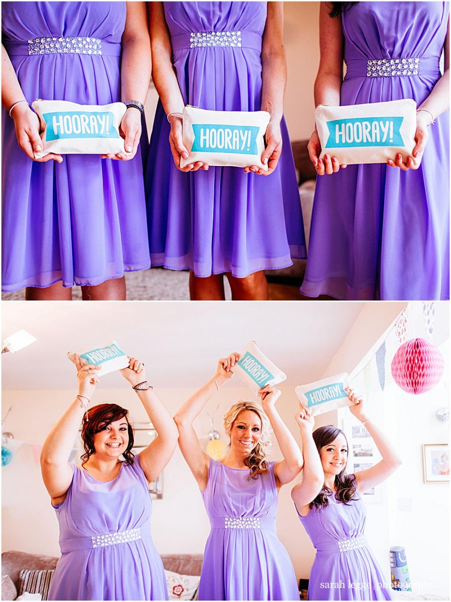Bridesmaids with notonthehighstreet hooray clutches