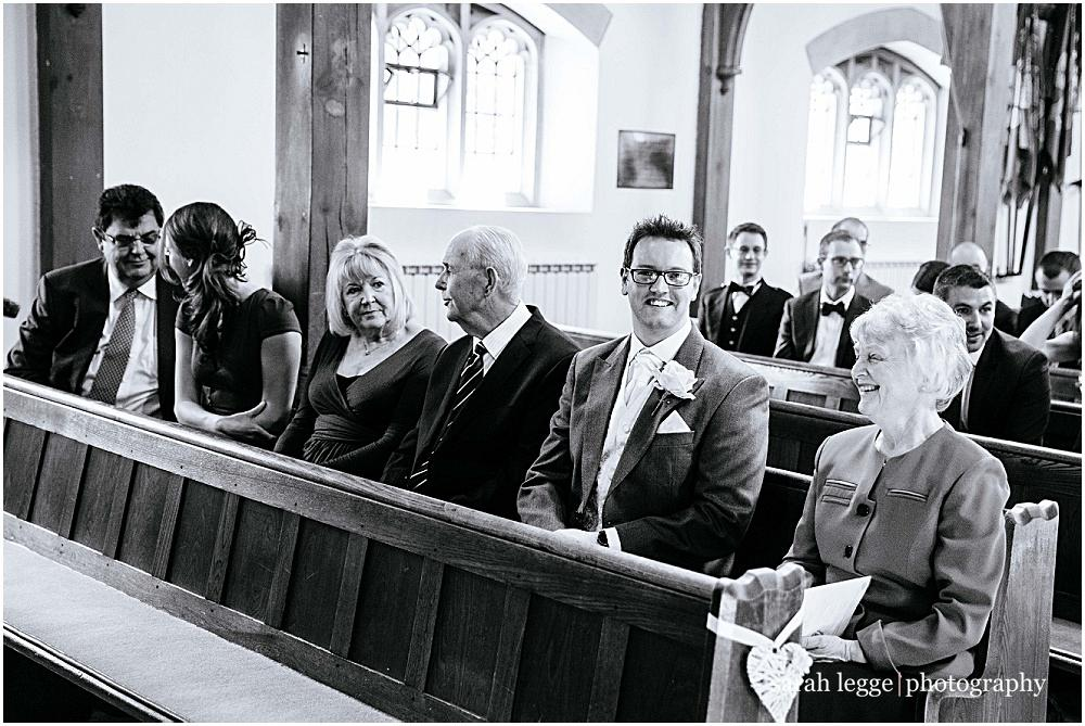 Guests smiling during registry signing