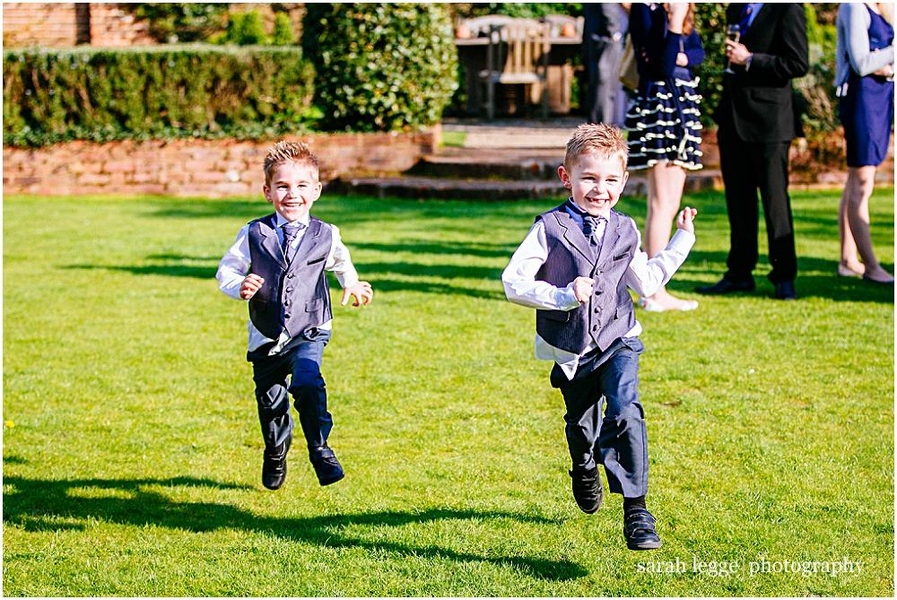 Kids having fun at wedding