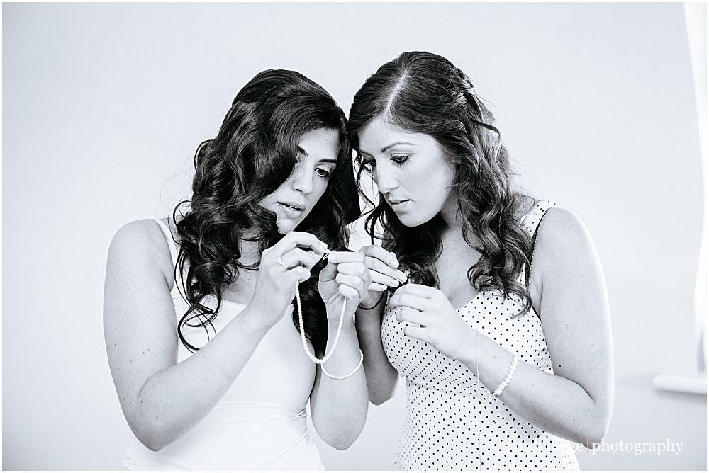 Sisters look at jewellery