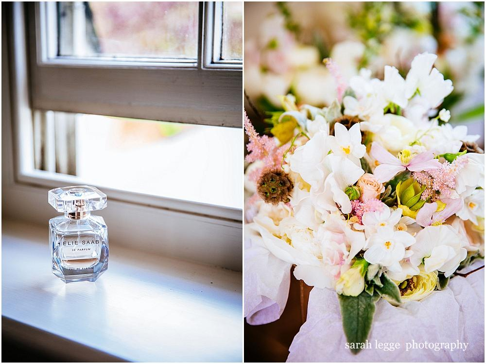 Wedding perfume and flowers