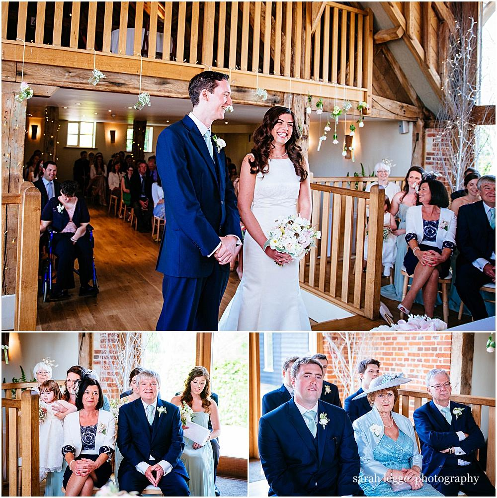 Civil ceremony at bury court barn