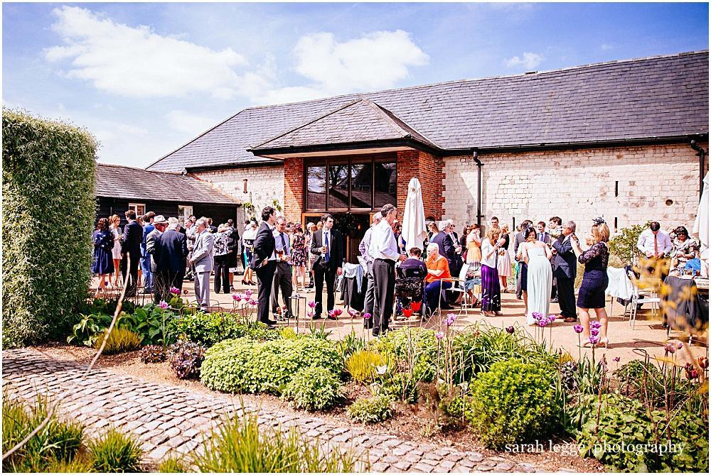 Bury court barn in the sunshine