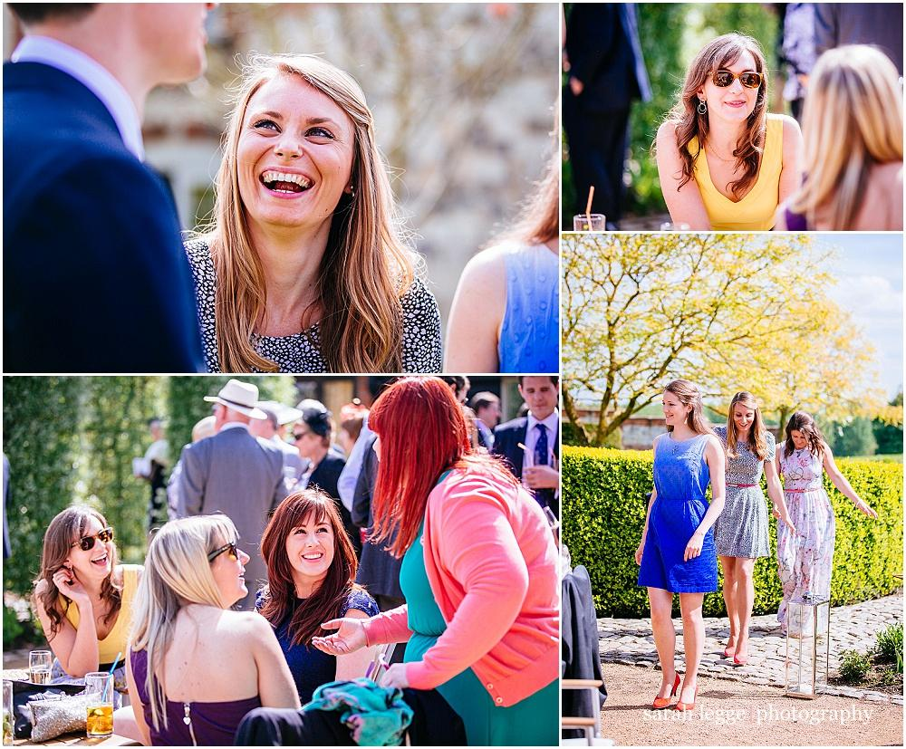 Guests laughing in the sunshine