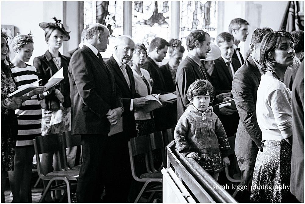 35mm little girl in church