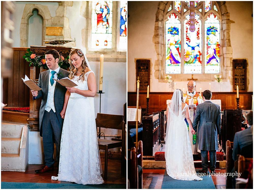 Bride and groom singing