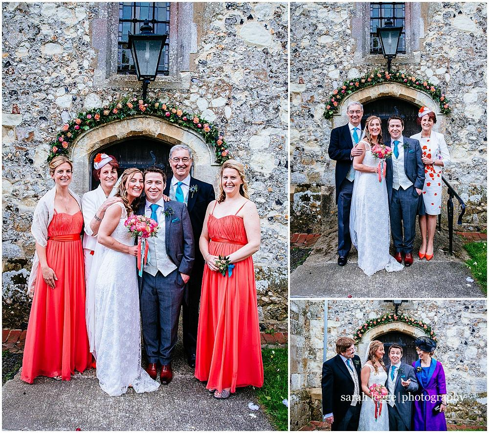Group photos outside Holybourne church