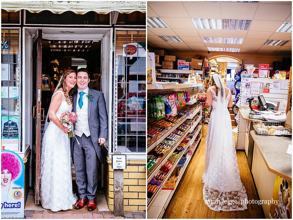 Bride buying sweets