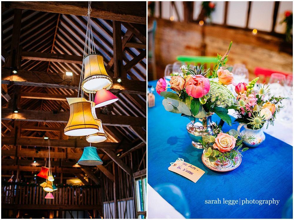 DIY wedding hanging multi lampshades