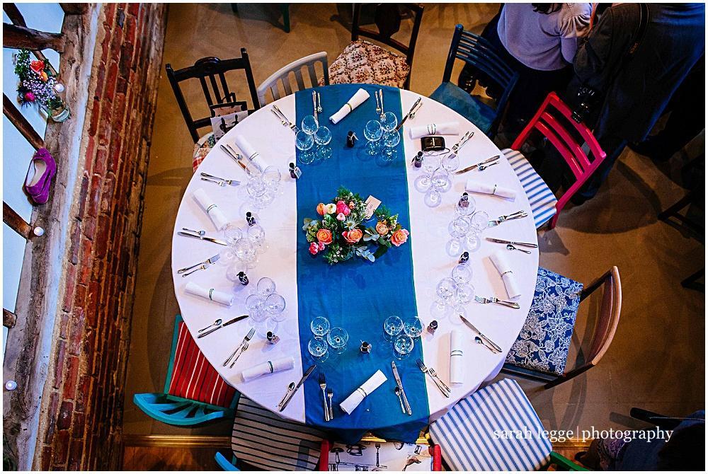 Mismatched colour pop Annie Sloan chairs