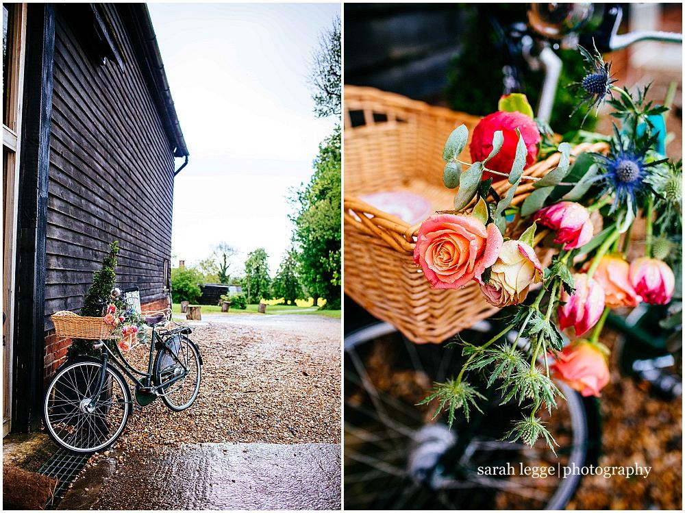 Vintage bicycle at wedding