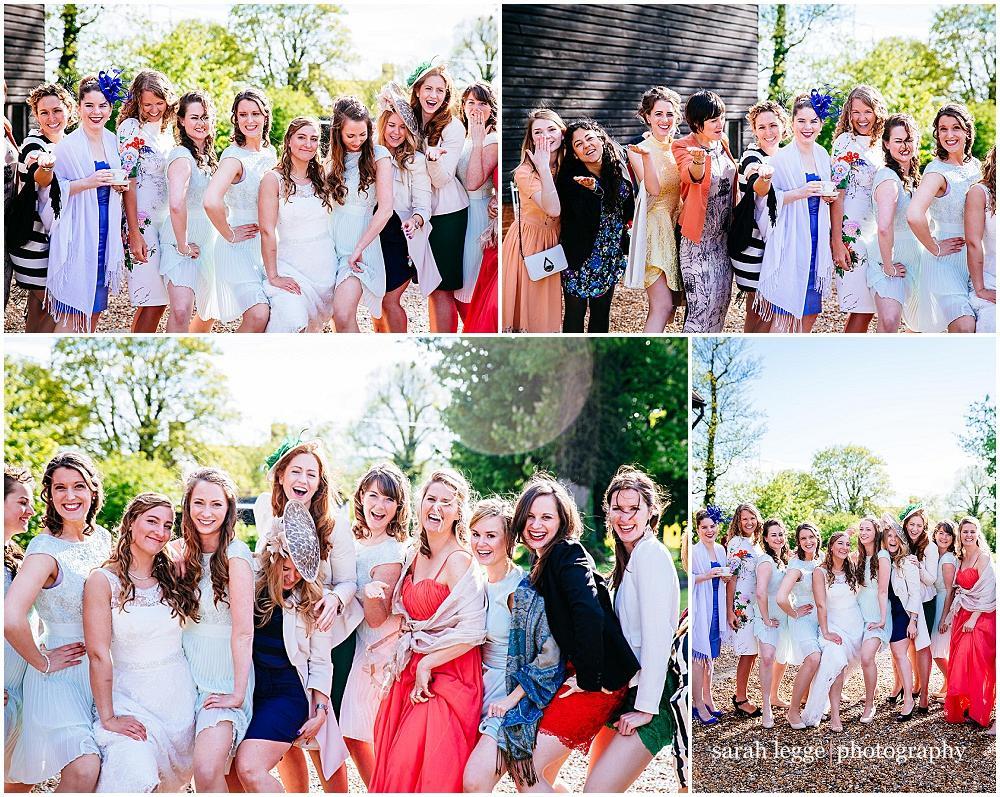Fun wedding group shots