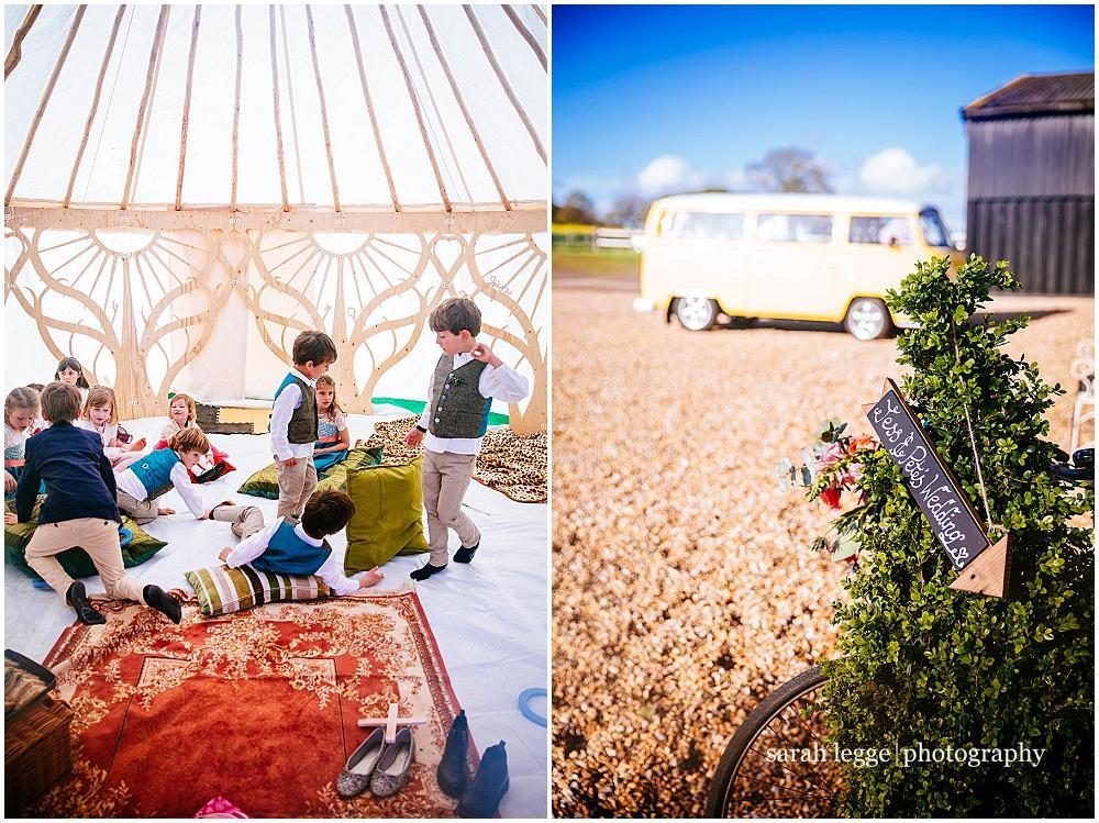 Kids in kids tent