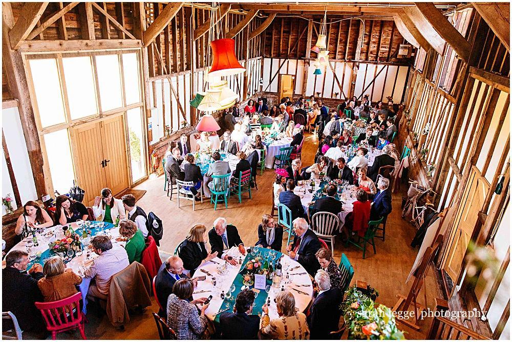 Wedding breakfast at bonhams barn