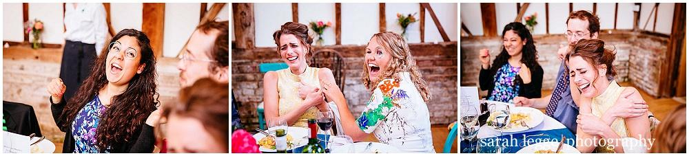 Laughing guests