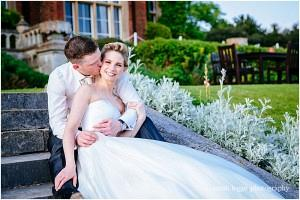 Bride and groom at Latimer Place