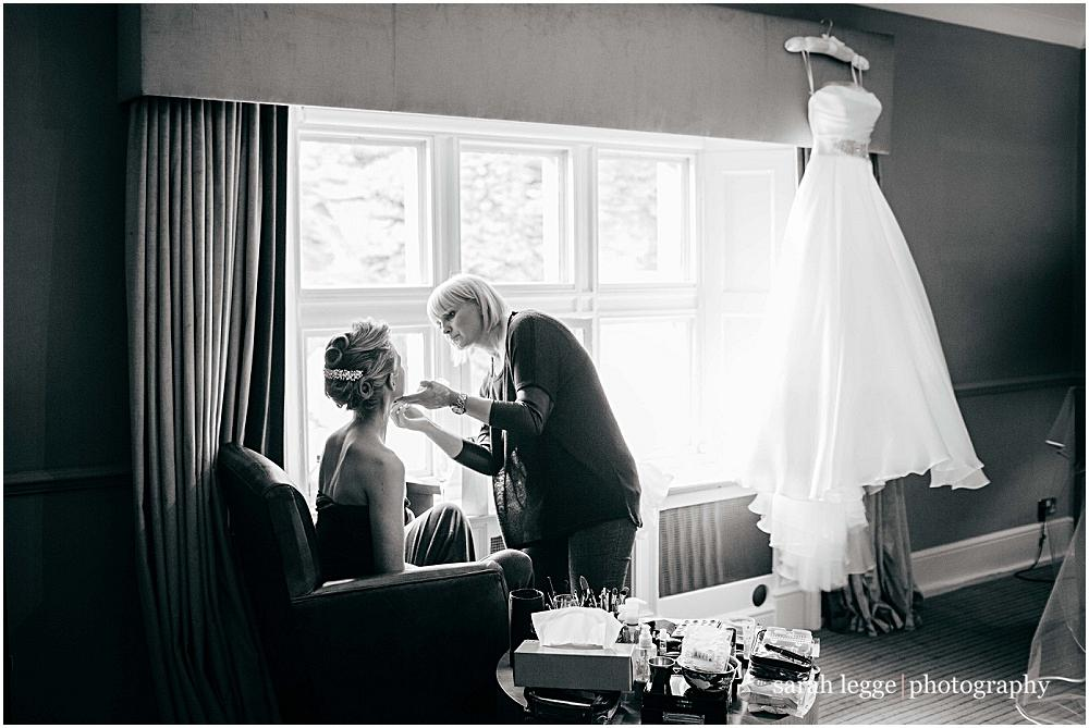 Wedding make up artist at work