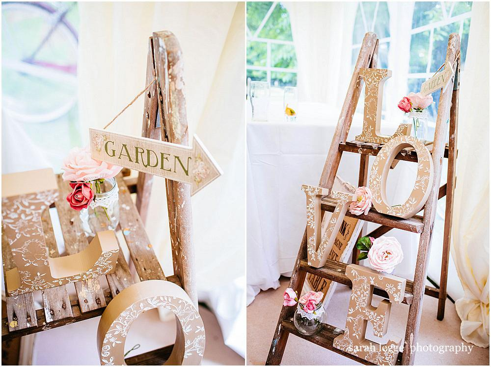 Stepladder wedding details