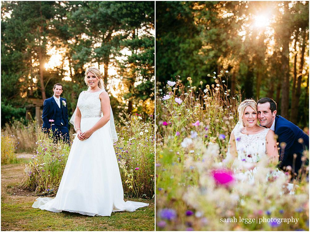 Wedding photos in golden hour