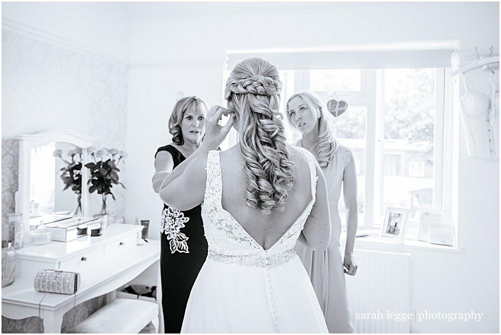 Bride from behind