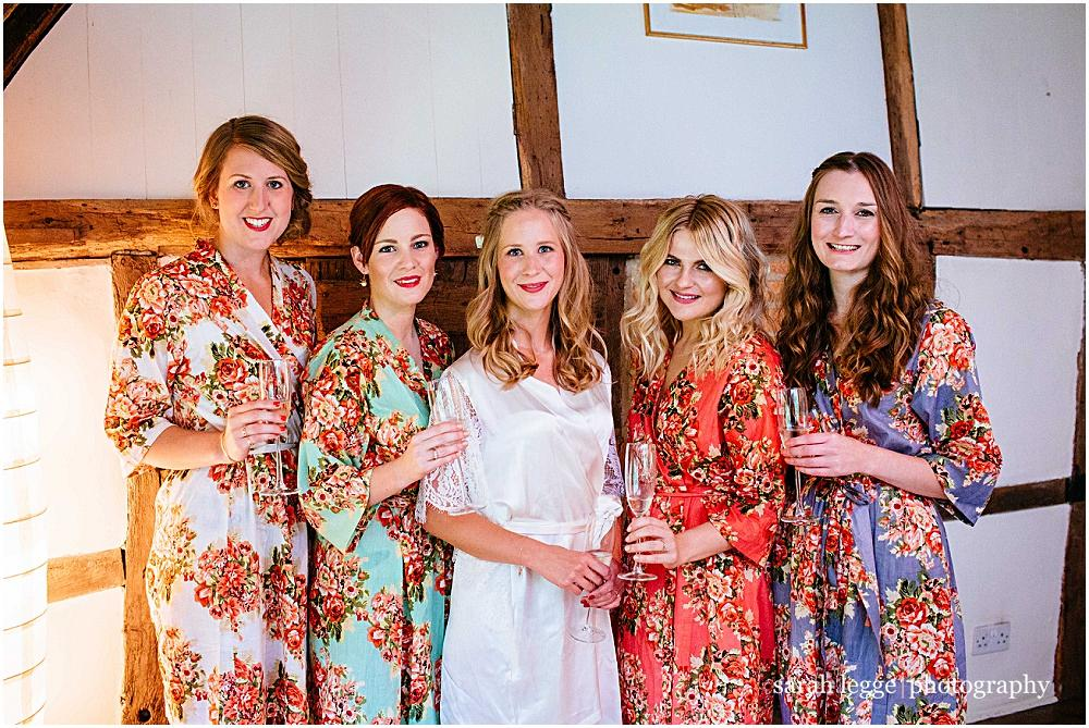 Bridesmaids in cath kidston dressing gowns