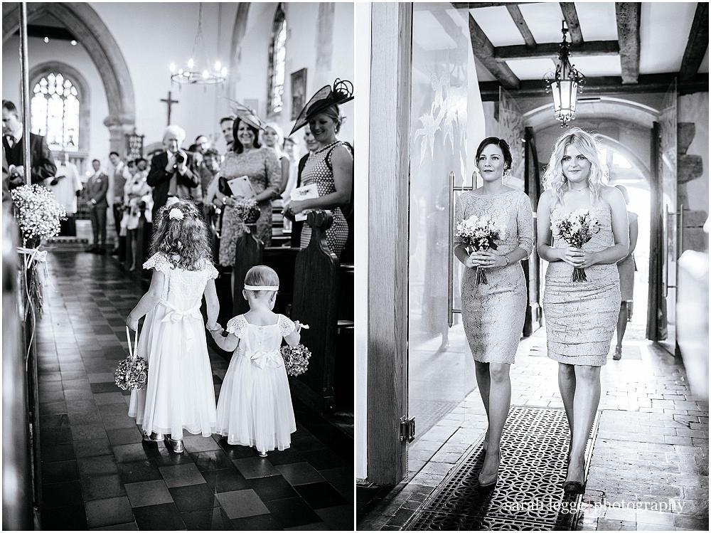 Bridesmaids at kirdford surrey church