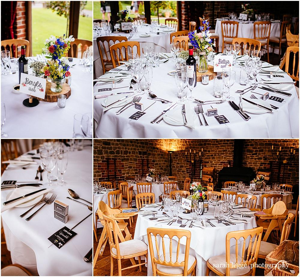 Bartholomew Barn table centrepieces
