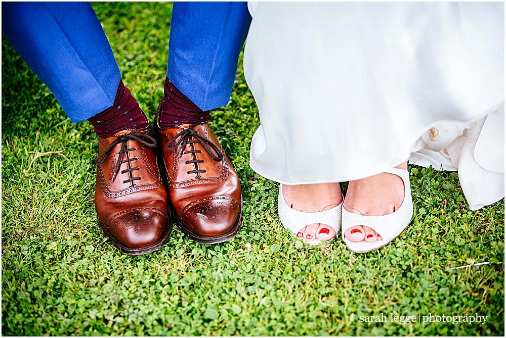 Boy and girl wedding shoes