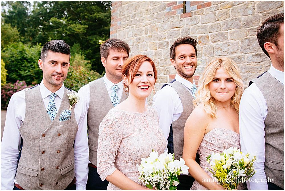 Good looking wedding party