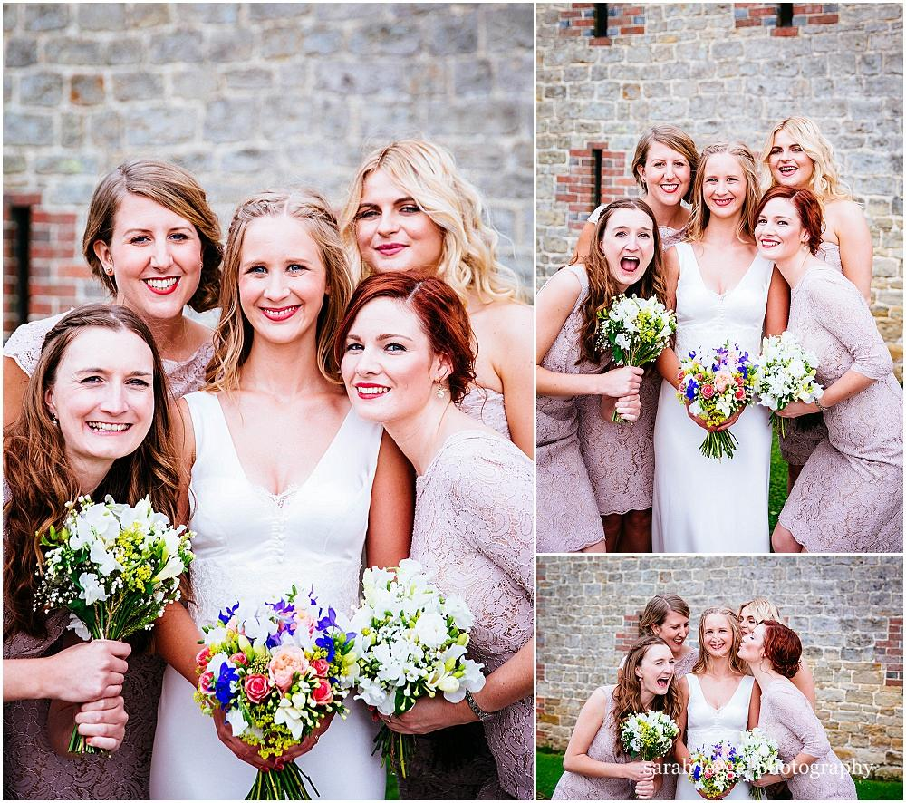 Relaxed bridesmaid photographs