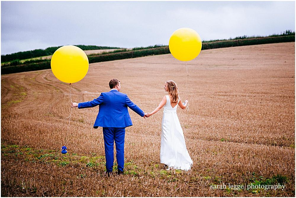 Large balloon wedding photographs