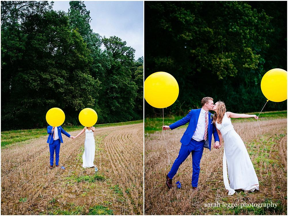 Fun couple portraits with balloons