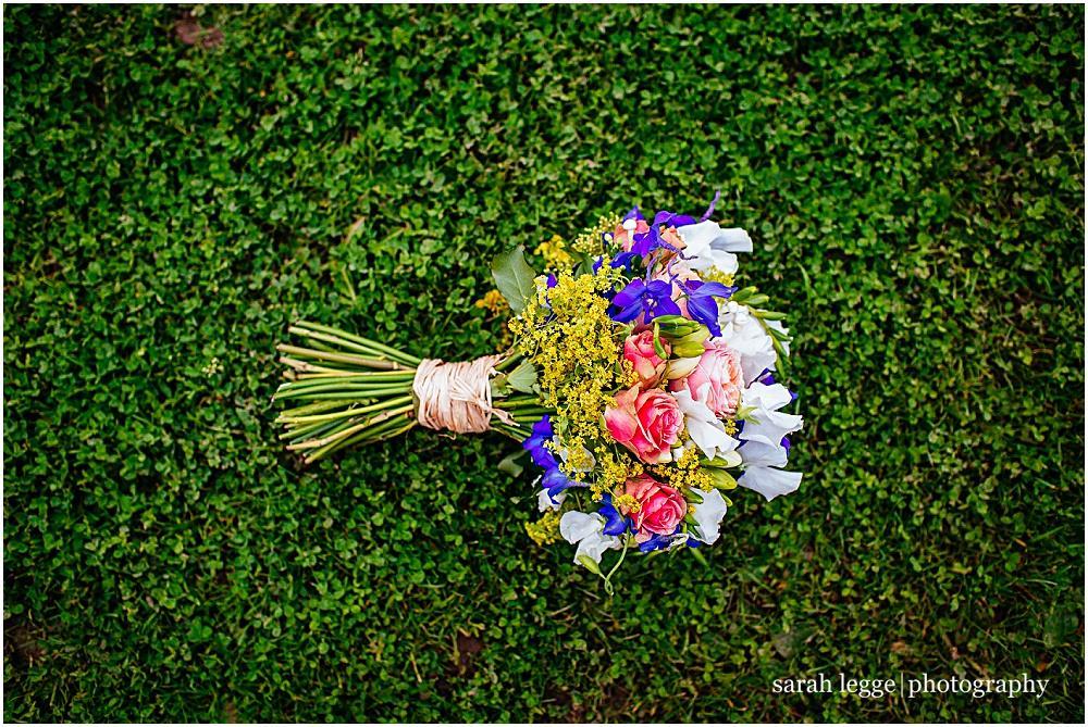 Beautiful summer wedding bouquet