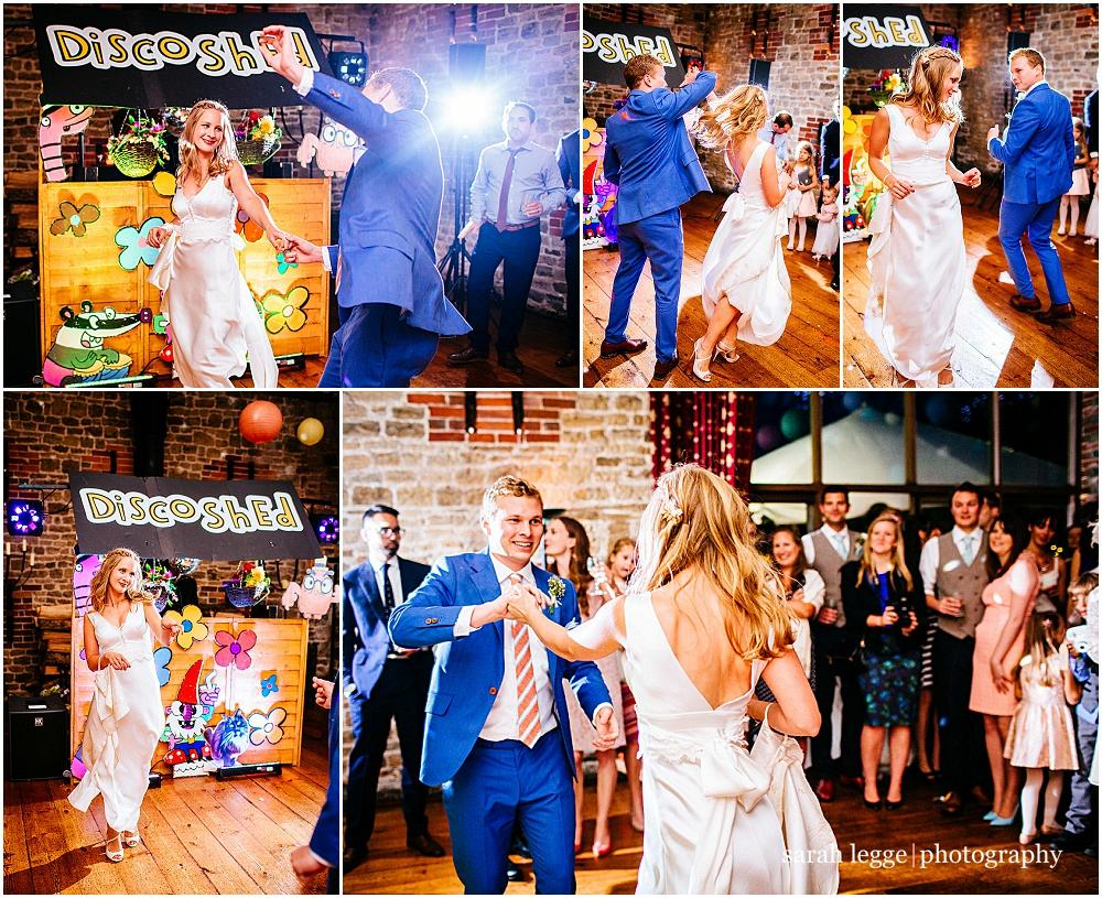 Fun first dance wedding photos