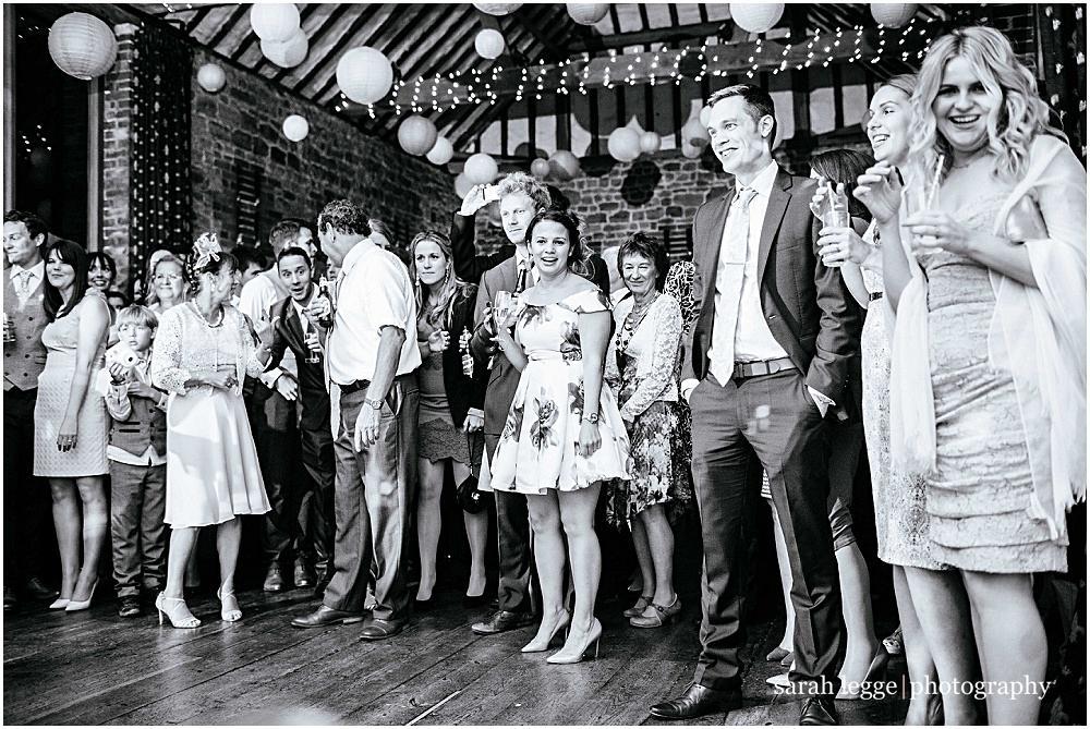 Wedding guests enjoying dance